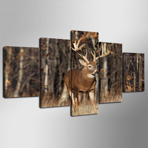 Monster Whitetail Deer Buck 5 piece Canvas Wall Print - Limited Edition