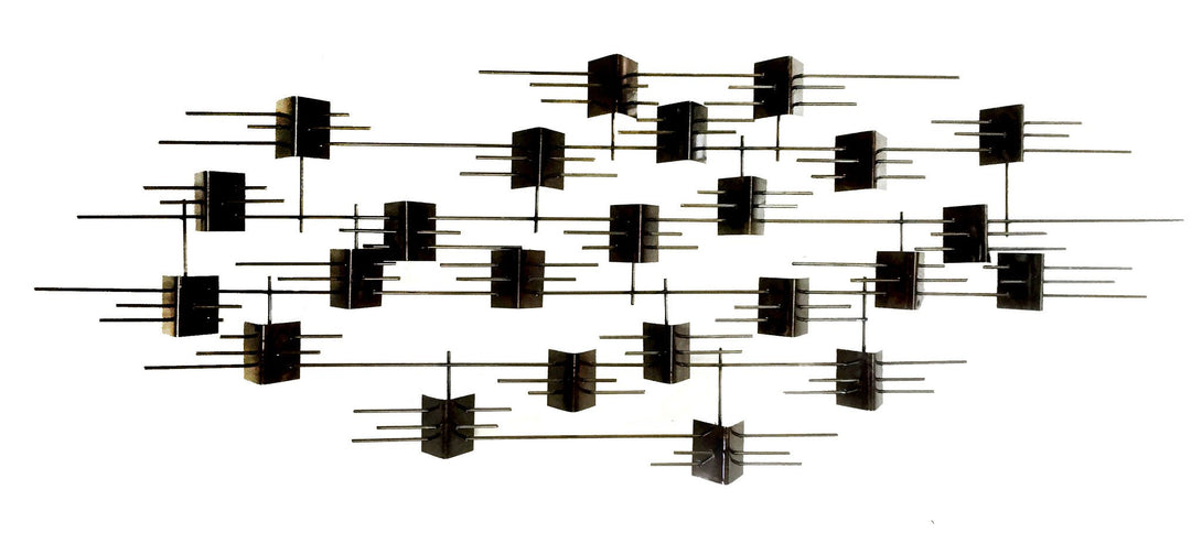 Half Tri-Quad - metal wall sculpture - #7055inc