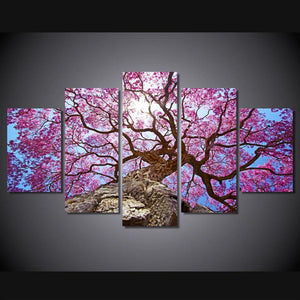 Cherry Blossom Tree Canvas Print 5 Pieces