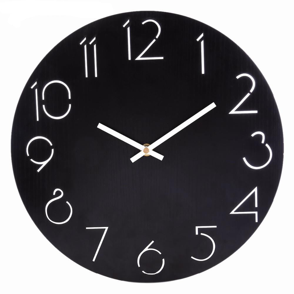 Simple Round Wall Clock Canvas Frenzy