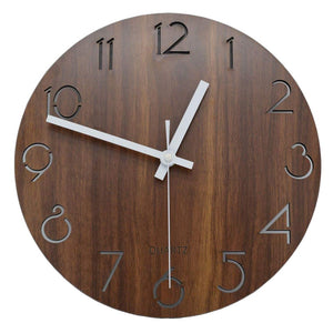 Vintage Numeral Wood Wall Clock
