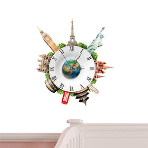 World Wonders Wall Clock