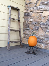 Seasons Greetings with Pun'kin Head pumpkin stands