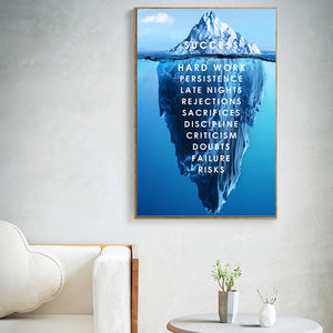 Iceberg of Success Canvas Print