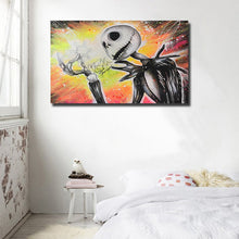 Jack Skellington By Shane Grammer Wall Canvas Print