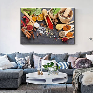Various Seasonings Canvas Art Canvas Print