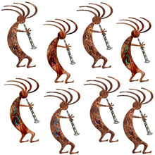 Kokopelli Dancer Rustic Southwestern Metal Wall Art