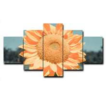 Sunflower Canvas Print 5 Pieces