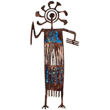 Petroglyphs - Larry - blue - metal wall art - #7055inc