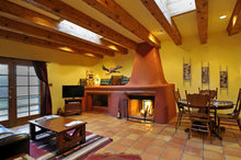 Southwest Style living/dining room with Road Runner and Scrolls