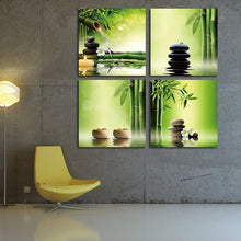 4 Panel Zen Bamboo Canvas Print