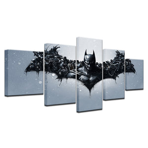 Batman Dark Knight Movie Canvas Print 5 Pieces