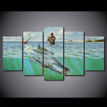 Wading For Speckled Trout Fishing 5 pc Canvas Print