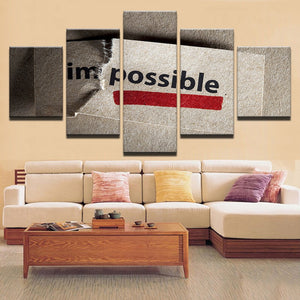 Impossible Canvas Print 5 Pieces