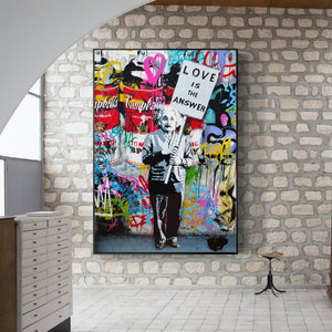 Modern Pop Graffiti Wall Canvas Print