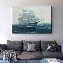 Ship Sailing In The Waves Canvas Print