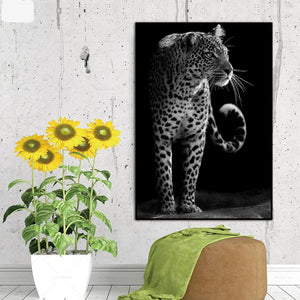Leopard Portrait Wall Art Canvas Print