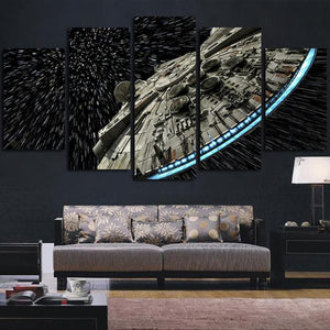 Star Wars Destroyer Millennium Falcon Canvas Print 5 Piece