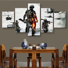 Soldiers In Battle Canvas Print 5 Piece