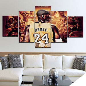 Kobe Bryant Canvas Print 5 Pieces
