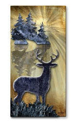Whitetail Buck Deer Metal Wall Art Sculpture