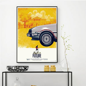 Back To The Future Car Canvas Print
