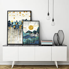 Nordic Abstract Geometric Mountain Canvas Print