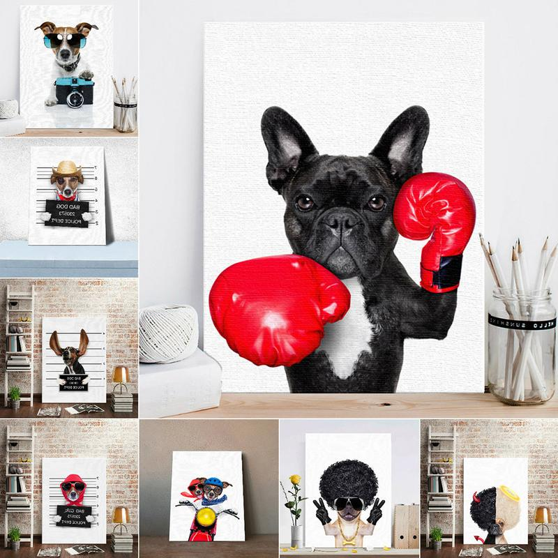 Boxing Dog Canvas Print