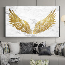 Holy Golden Wings Canvas Print