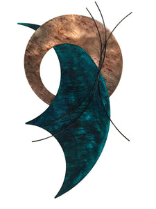 On Target - candy teal - metal wall sculpture - #7055inc