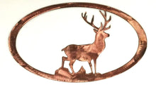 Stag Oval - copper- metal art - 7055 inc