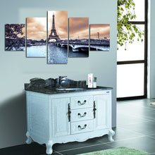 Eiffel Tower Canvas Print 5 Piece