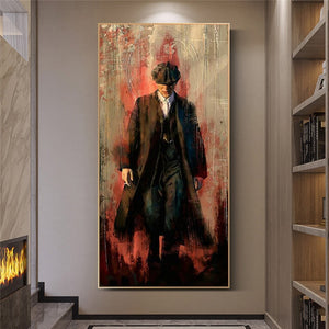 Peaky blinders Graffiti Canvas Print