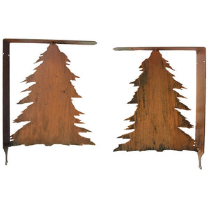 Pine Tree Shelf Bracket Set - Rust - #7055inc