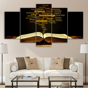 Academic Words Golden Book Canvas Print