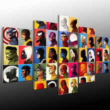 Comic Characters Marvel Superheroes Canvas Print 5 Pieces