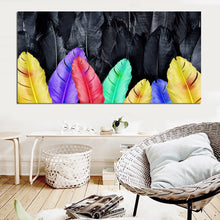 Golden Feather Canvas Print
