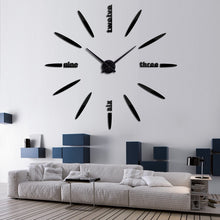 "Acrylic Needle Wall Clock 37"" 47"""