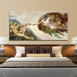Sistine Chapel Ceiling Fresco of Michelangelo Canvas Print