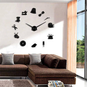 "Tailor Shop Wall Clock 37"" 47"""