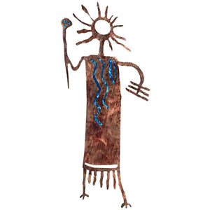 Petroglyphs - Ted - blue - metal wall art - #7055inc