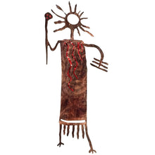 Petroglyphs - Ted - Red - metal wall art - #7055inc