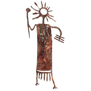 Petroglyphs - Ted - Silver - metal wall art - #7055inc