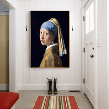 The Girl With A Pearl Earring Famous Wall Paintings By Jan Vermeer Canvas Print
