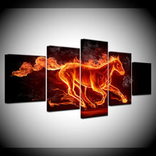 Horse on Fire Canvas Print 5 Pieces