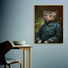 Cat Emperor Portrait Canvas Print