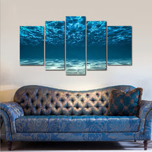 Ocean Bottom View Beneath Surface Canvas Print 5 Pieces