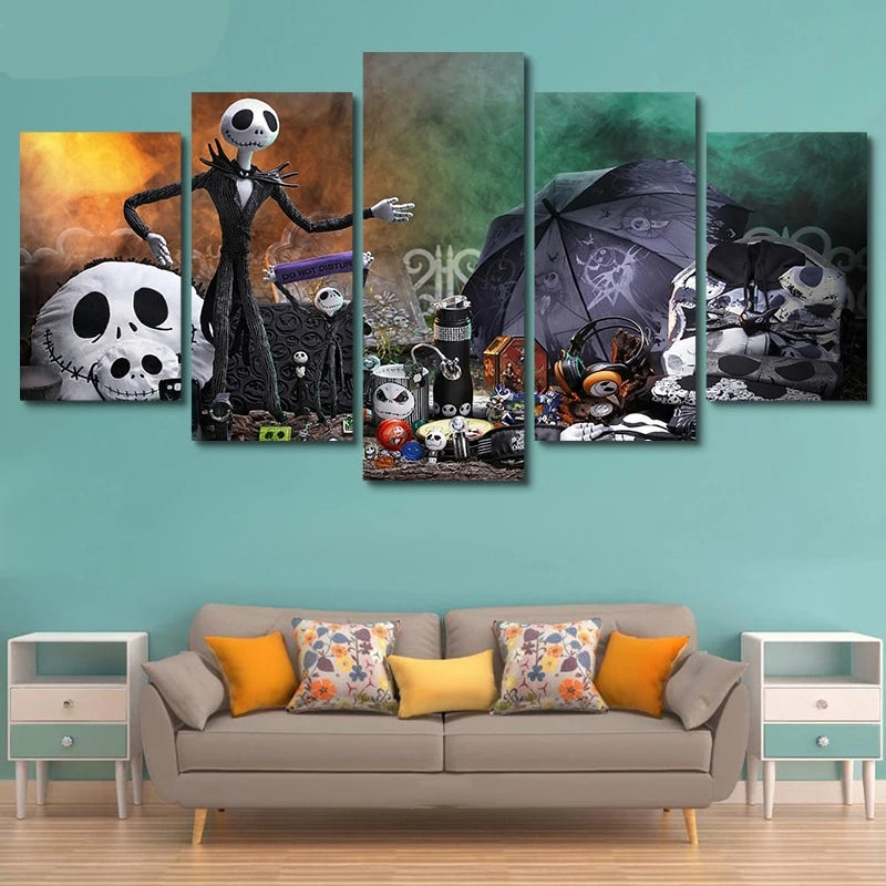 Nightmare Before Christmas Jack Skellington Canvas Print