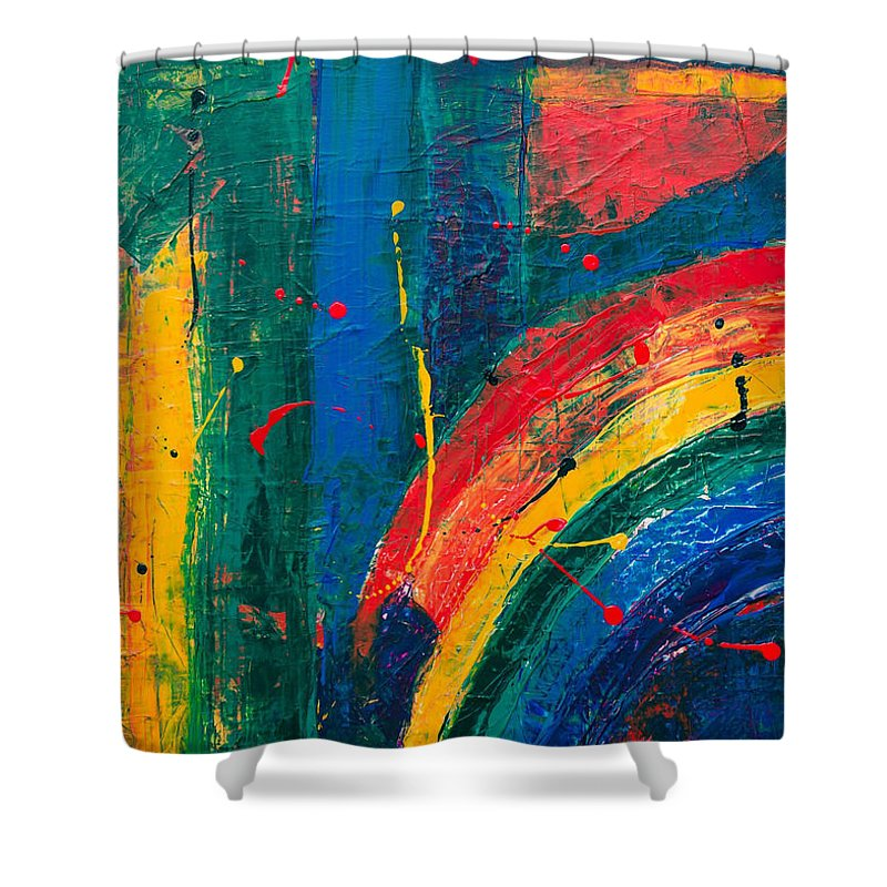 Abstract - Shower Curtain