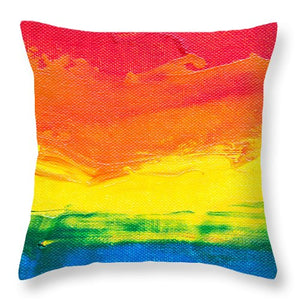 Abstract Sunset - Throw Pillow